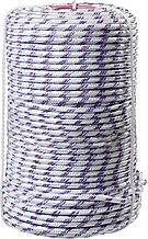 Фал плетёный полипропиленовый СИБИН 16-прядный с полипропиленовым сердечником, диаметр 8 мм, бухта 100 м, 520 кгс 50215-08