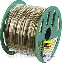 Трос стальной в полимерной оболочке, d=2,5 мм, L=200 м, STAYER Master 30410-25
