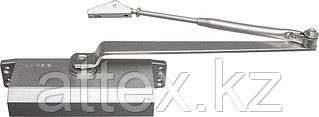 Доводчик дверной ЗУБР для дверей массой до 80 кг, цвет серебро 37910-80