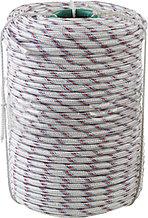 Фал плетёный полипропиленовый СИБИН 24-прядный с полипропиленовым сердечником, диаметр 10 мм, бухта 100 м, 700 кгс 50215-10