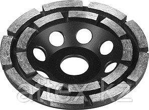 Чашка ЗУБР алмазная сегментная двухрядная, высота 22,2мм, 125мм 33372-125