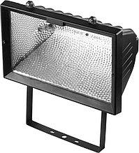 Прожектор галогеновый СВЕТОЗАР с дугой крепления под установку, цвет черный, 1500Вт SV-57107-B