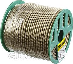Трос стальной в полимерной оболочке, d=5,0 мм, L=100 м, STAYER Master 30410-50