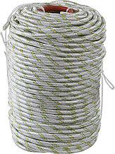 Фал плетёный капроновый СИБИН 24-прядный с капроновым сердечником, диаметр 10 мм, бухта 100 м, 1300 кгс 50220-10