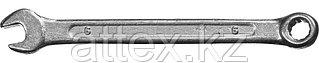 Ключ комбинированный гаечный СИБИН, белый цинк, 6х6 мм 27089-06