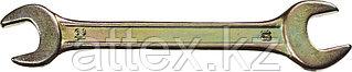 Ключ рожковый гаечный DEXX, желтый цинк, 12х13мм 27018-12-13