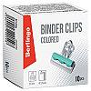 Зажимы-бульдоги для бумаги 32мм, Berlingo, 10шт. цветные, картонная коробка