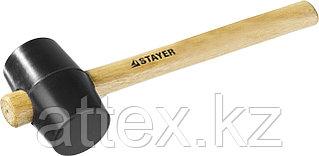 Киянка STAYER резиновая черная с деревянной ручкой, 225г 20505-40