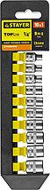 """Набор STAYER """"STANDARD"""": Торцовые головки (1/4"""") на пластиковом рельсе, 4-13мм, 10 предметов 27758-H10"""