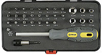 """Набор STAYER Отвертка """"MAX-GRIP"""" с битами и торцовыми головками, 32 предмета 25927-H32 G"""