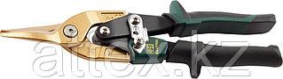Ножницы по твердому металлу KRAFTOOL, двойная рычаж передача, Cr-Mo, титан покрытие, двухкомп ручка, прямые, 250мм 2327-S