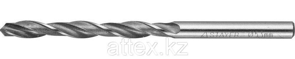 "Сверло по металлу, быстрорежущая сталь Р6М5, STAYER ""PROFI"" 29602-086-5.3, DIN 338, d=5,3 мм"