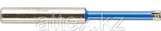 Сверло алмазное трубчатое по стеклу и кафелю, d=6 мм, зерно Р 100, ЗУБР Профессионал 29860-03
