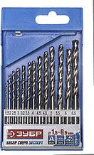 "Набор сверл по металлу 13 шт (d=1,5-6,5 мм), класс А, сталь Р6М5, ЗУБР ""ЭКСПЕРТ"" 4-29625-H13"