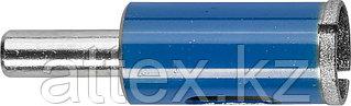 Сверло алмазное трубчатое по стеклу и кафелю, d=18 мм, зерно Р 100, ЗУБР Профессионал 29860-18
