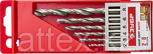 Набор сверл по металлу Зубр 4-29621-H6 d 2-8 мм 6 шт