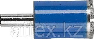 Сверло алмазное трубчатое по стеклу и кафелю, d=22 мм, зерно Р 100, ЗУБР Профессионал 29860-22