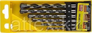 "Набор STAYER ""PROFESSIONAL"": Свёрла по бетону, ударные 4, 5, 6, 6, 8, 10мм, 6шт 2915-H6"
