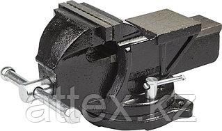 Тиски слесарные Stayer 100 мм поворотные с наковальней,чугунные 3256-100