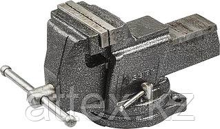 Тиски слесарные Зубр 100 мм поворотные с наковальней,чугунные 32703-100