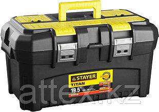 """Ящик STAYER """"MASTER"""" пластиковый для инструмента, 490x290x270 мм (19"""") 38016-19"""