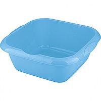 Таз пластмассовый квадратный 12л, голубой ТМ Elfe Россия