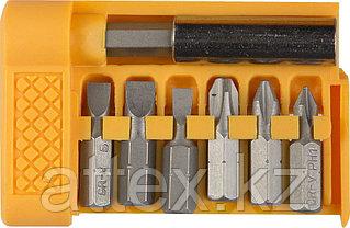 """Набор STAYER """"STANDARD"""" Биты с магнитным адаптером в плоском мини-боксе, 7 предметов 26082-H7"""