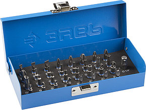 Набор ЗУБР: Биты с магнитным адаптером и переходником, хромомолибденовая сталь, 33 предмета Зубр 26092-H33
