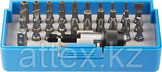 Набор ЗУБР: Биты из хромомолибденовой стали, 31 бита - 25мм, адаптер, 32 предмета Зубр 26091-H32