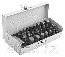 Набор ЗУБР: Биты специальные в металлическом боксе, PH, SL, HEX, TORX, SPLINE, 32 предмета Зубр 2655-H32