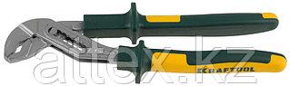 """Клещи KRAFTOOL""""KRAFT-MAX"""",переставные,Cr-Mo,маслобензост двухкомп рукоятки,шарнирное соединение с повыш износост,250мм 22011-10-25"""