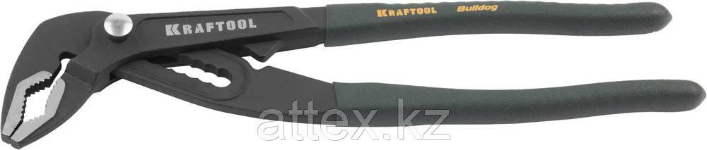 Клещи KRAFTOOL переставные Bulldog, быстрая регулировка, CrV, фосфатирован покрытие, max захват 60мм, губки 6мм, 250мм 22353-25