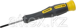 """Отвертка STAYER """"PROFESSIONAL"""" """"MAX-GRIP"""" для точных работ, Cr-V, двухкомпонентная рукоятка, магнит наконечник, SL 3,0x40мм 25825-03-040 G"""
