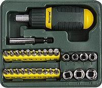 Набор KRAFTOOL Отвертка реверсивная с битами и торцовыми головками, 29 предметоветов 25556-H29