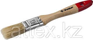 """Кисть плоская ЗУБР """"УНИВЕРСАЛ-МАСТЕР"""", натуральная щетина, деревянная ручка, 25мм 4-01003-025"""