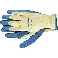 Перчатки хлопчатобумажные, латексное рельефное покрытие, M// СИБРТЕХ