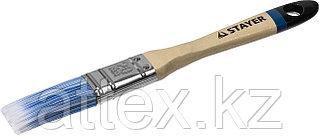 """Кисть плоская STAYER """"EURO"""", """"AQUA"""" для воднодисперсионных и акриловых ЛКМ, искусств щетина, деревян ручка, 3/4""""/20мм 01062-020"""