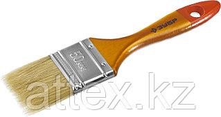 """Кисть плоская ЗУБР """"УНИВЕРСАЛ-МАСТЕР"""", натуральная щетина, деревянная ручка, 50мм 4-01003-050"""