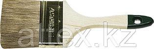 """Кисть плоская STAYER """"LASUR-STANDARD"""", смешанная (натуральная и искусственная) щетина, деревянная ручка, 63мм 01031-63"""