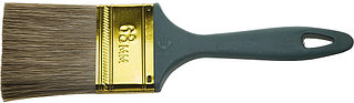 """Кисть ЗУБР """"КП-14"""" плоская, смешанная щетина, пластмассовая рукоятка, 63мм 4-01014-063"""