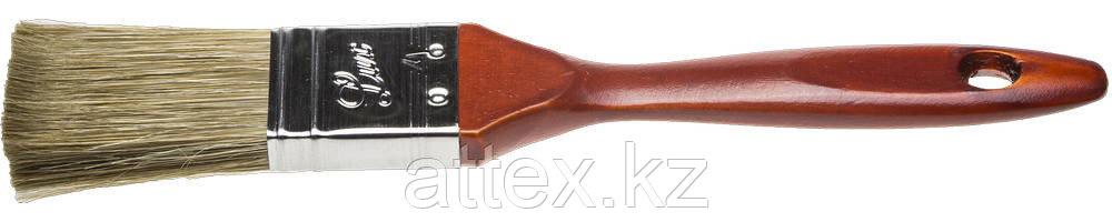 """Кисть плоская STAYER """"LASUR - LUX"""", деревянная ручка, смешанная щетина, 25мм 01051-025"""