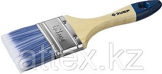 """Кисть плоская ЗУБР """"АКВА-МАСТЕР"""", искусственная щетина, деревянная ручка, 63мм 4-01007-063"""