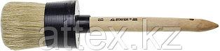 "Кисть круглая STAYER ""MASTER"", светлая натурал. щетина, пластм. корпус, деревян. ручка, №18 x60мм 0141-60"
