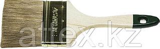 """Кисть плоская STAYER """"LASUR-STANDARD"""", смешанная (натуральная и искусственная) щетина, деревянная ручка, 75мм 01031-75"""