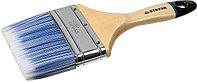 """Кисть плоская STAYER """"EURO"""", """"AQUA"""" для воднодисперсионных и акриловых ЛКМ, искусств щетина, деревян ручка, 4""""/100мм 01062-100"""