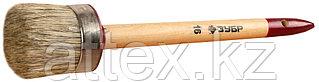 """Кисть круглая ЗУБР """"УНИВЕРСАЛ - МАСТЕР"""", светлая щетина, деревянная ручка, №16, 55мм 01501-55"""