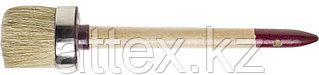 """Кисть круглая ЗУБР """"УНИВЕРСАЛ - МАСТЕР"""", светлая щетина, деревянная ручка, №18, 60мм 01501-60"""