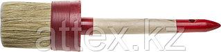 "Кисть круглая STAYER ""MASTER"", светлая натурал. щетина, пластм. корпус, деревян. ручка, №20 x65мм 0141-65"