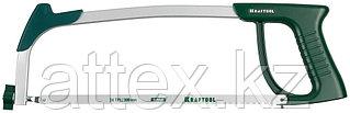 Ножовка по металлу, KRAFTOOL 15811, металлическая рукоятка, натяжение 120 кг, 300 мм