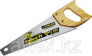 Ножовка многоцелевая компактная (пила) STAYER COBRA TOOLBOX 350 мм,11 TPI, прямой мелкий зуб, точный рез вдоль и поперек волокон разных материалов